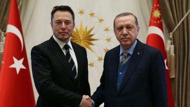 Erdoğan ve Musk, 8 Kasım 2017'de Ankara'da bir araya geldi