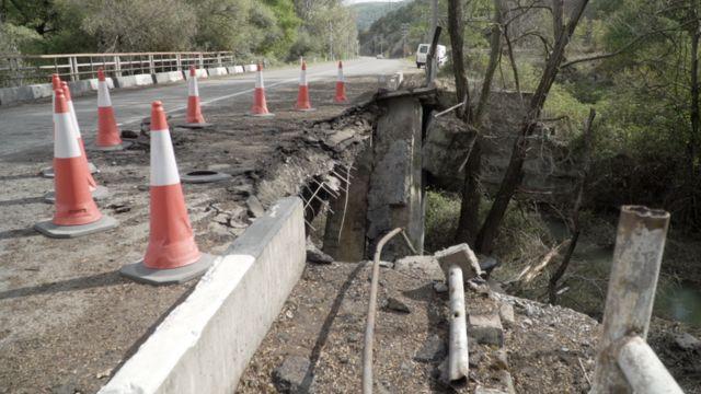 Так выглядит мост в Лачине