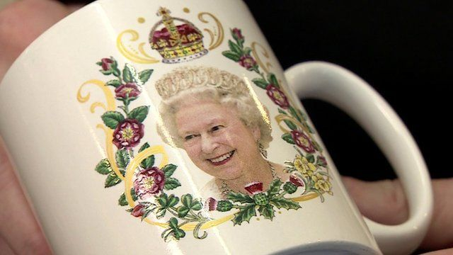 Mug with Queen's face on it
