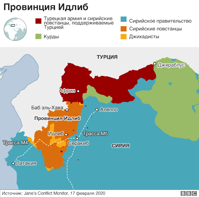 карта идлиба
