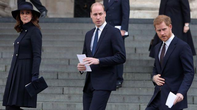 Герцог и герцогиня Кембриджские и принц Гарри