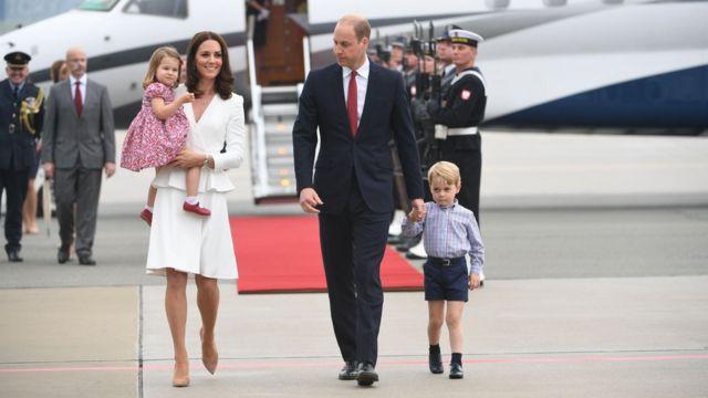 Kate Middleton, William e os filhos, George e Charlotte