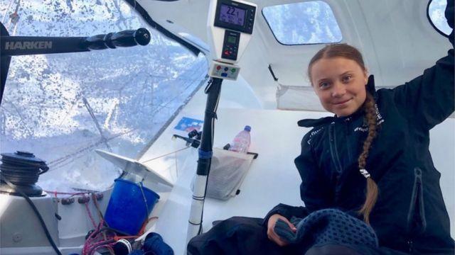Greta Tunberg, Atlantski okean, 24. avgust 2019.