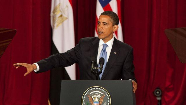 Barack Obama at Cairo University (June, 2009)
