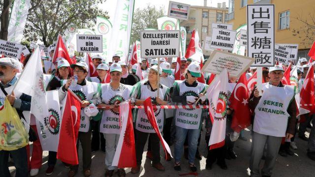 Şeker fabrikalarının satışı protesto edilmişti
