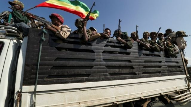 Forces loyal to the Ethiopian government are on their way to confront the Tigray People's Liberation Front