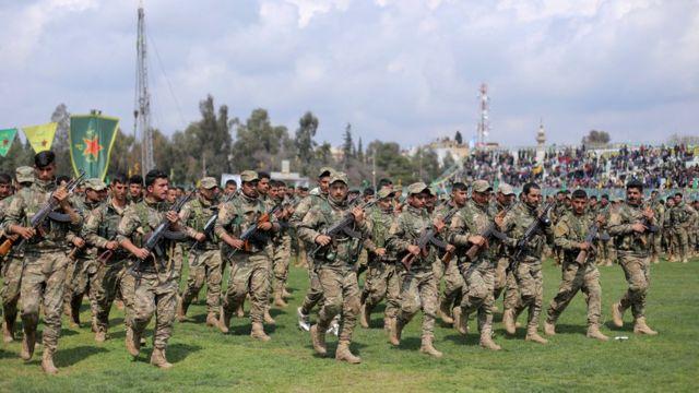 인민수호부대(YPG)는 시리아민주군에서 가장 규모가 큰 민병대다
