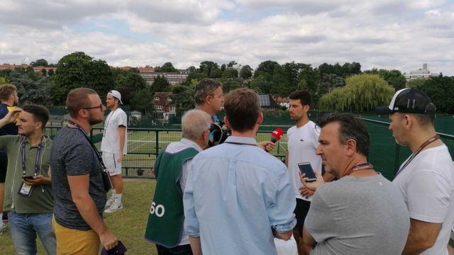 Najbolji srpski teniser u razgovoru sa novinarima