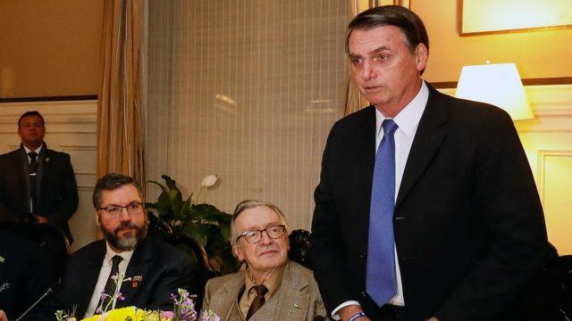 Ernesto Araújo, Olavo de Carvalho e Bolsonaro