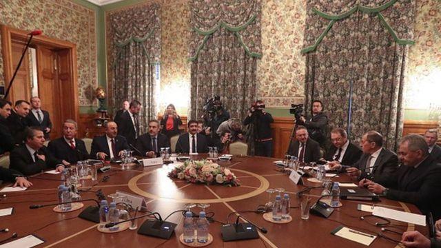 13 Ocak'ta Moskova'da Türk ve Rus heyetler Libya konulu toplantıda bir araya geldi