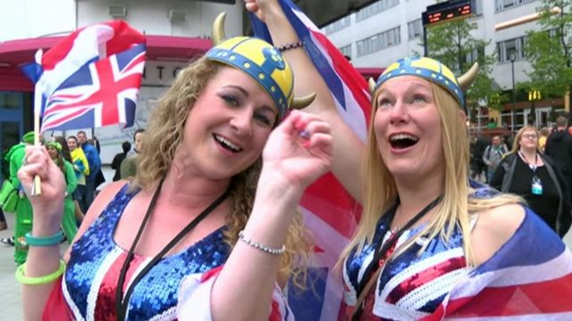 Eurovision fans in Stockholm