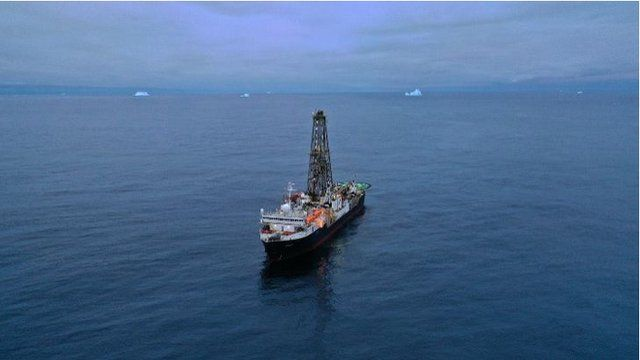 The Joides Resolution was drilling off the coast of West Antarctica in 3,900m of water