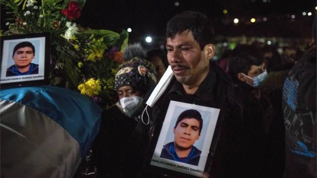Relatives of the murdered, in Comitancillo, Guatemala, March 12, 2021.