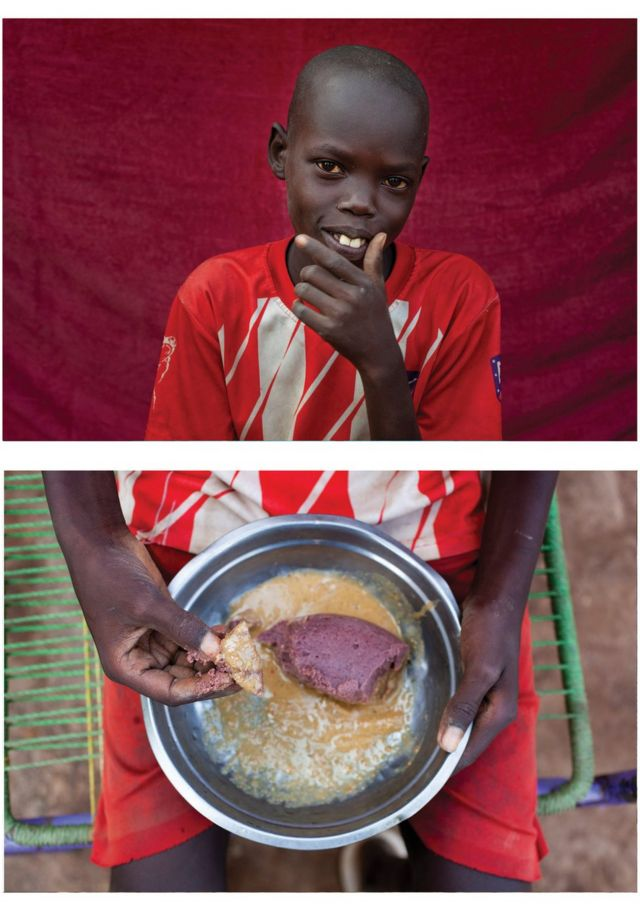 Tonj with his food