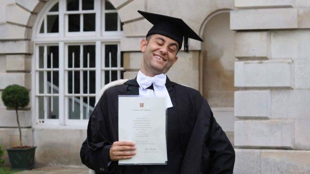 Allan at graduation