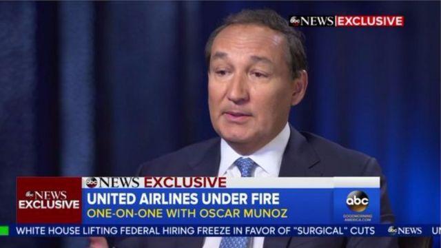 United Airlines авиакомпаниясынын башкы директору Оскар Муньос