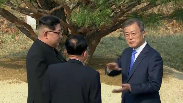 الزعيم الكوري الشمالي والرئيس الكوري الجنوبي