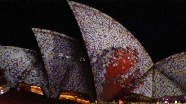 Sydney Opera House, illuminated