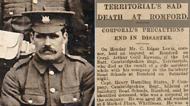 The first 'friendly fire' victim of World War One