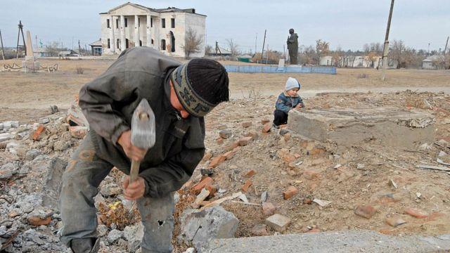 Деревня в Казахстане