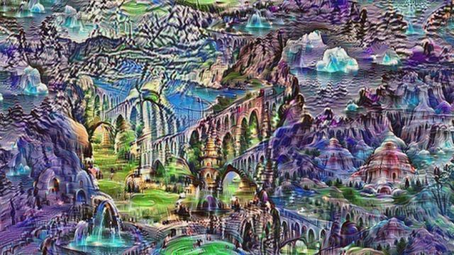 Image generated from a Google neural network
