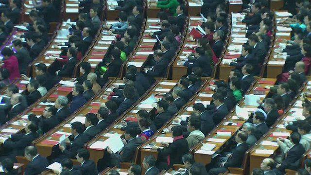 Delegates at China's NPC meeting