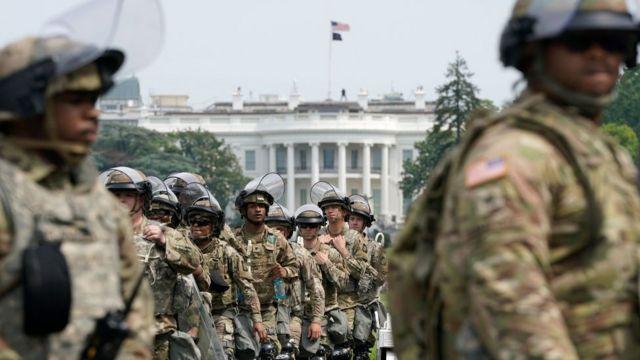 Nationalgarden vor dem Weißen Haus