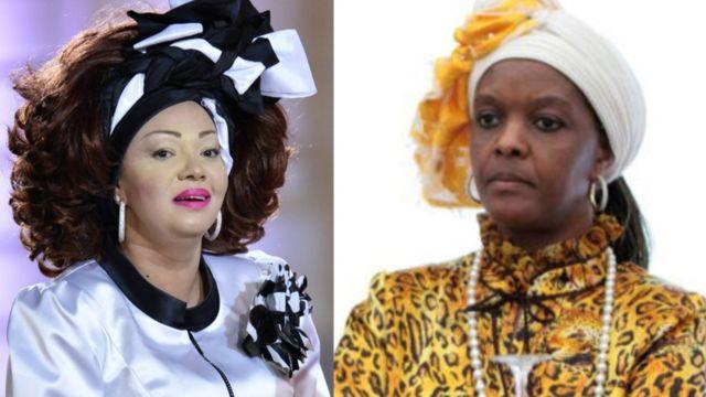 Chantel Biya (L) and Grace Mugabe (R)