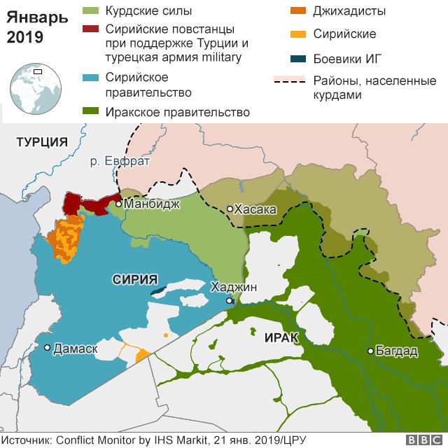 Кто и что контролирует в Сирии