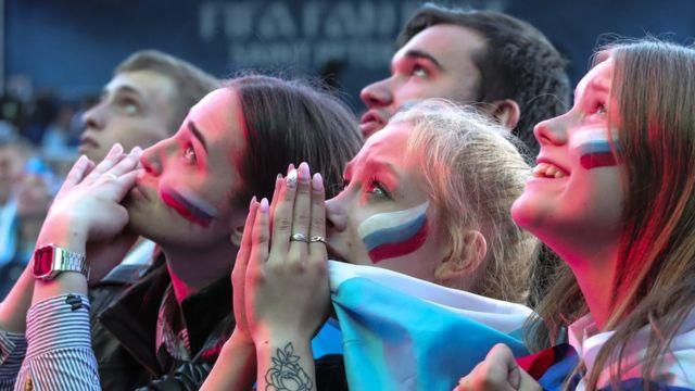 Torcedores russos na Copa