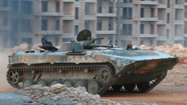 Tanque de Al Qaeda en Siria.