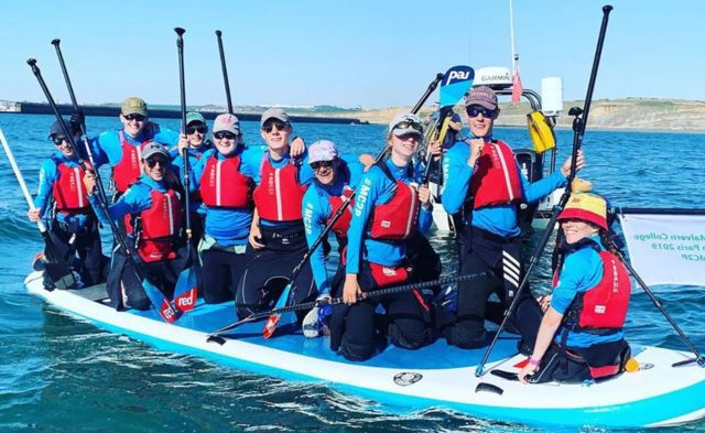 Ten Malvern College pupils cross Channel on paddleboards