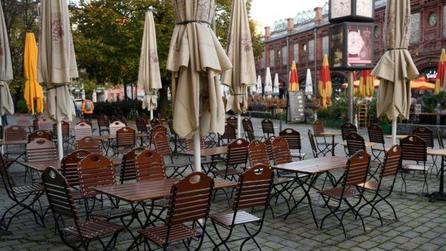Закрытое кафе в Берлине