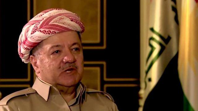 The President of Iraqi Kurdistan, Massoud Barzani, during a BBC interview