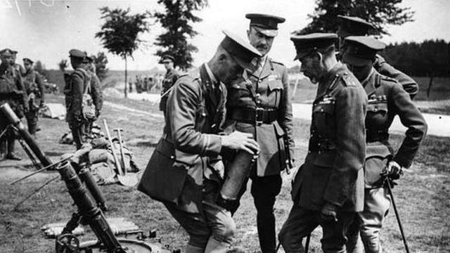 Георг V на фронте.