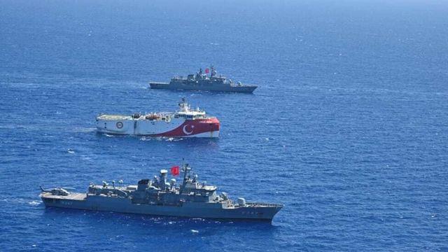 Doğu Akdeniz'deki Türk gemileri
