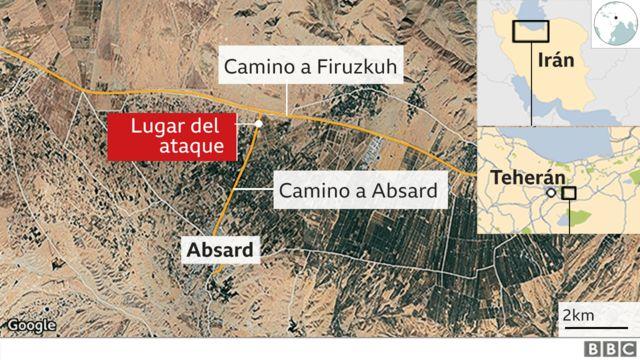 Mapa del lugar del atentado