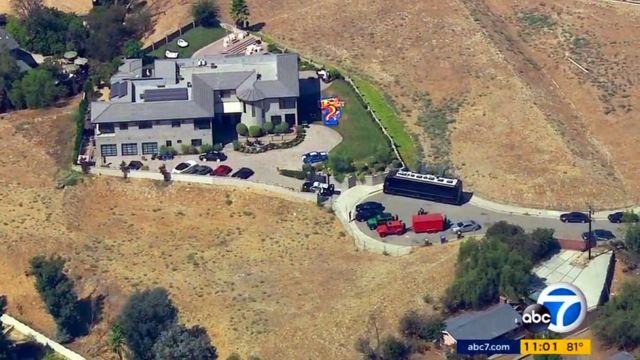 Imagen aérea de la vivienda de Chris Brown