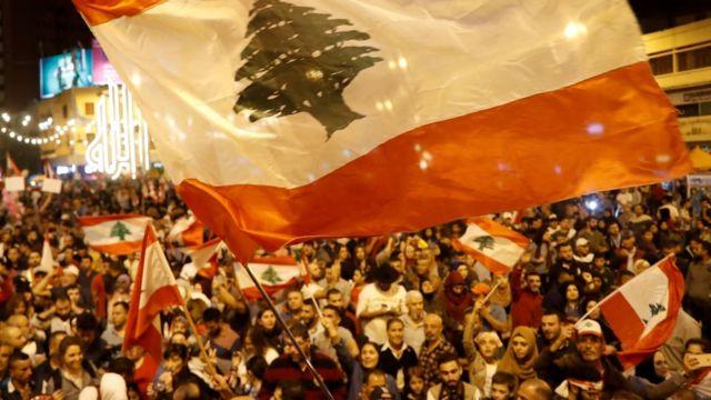 مظاهرات لبنان سد فيها المحتجون الطرق