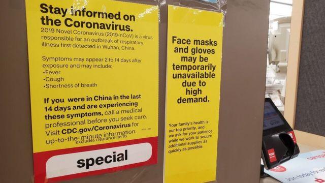 اینجا در کالیفرنیا بعضی داروخانهها از کمبود دستکش و ماسک خبر دادهاند
