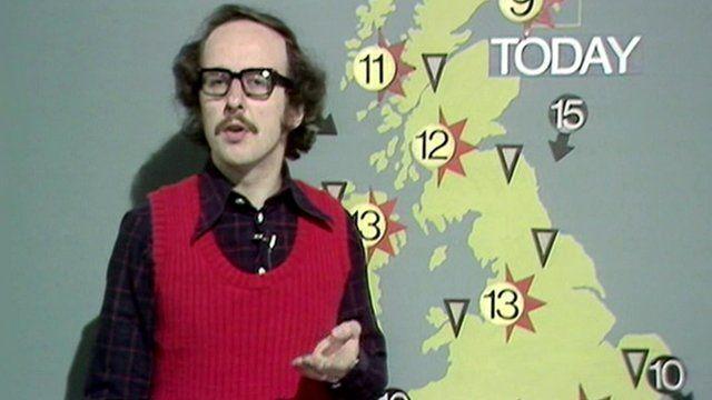 John Fish presenting the weather
