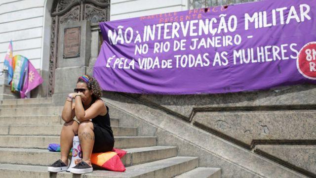 Manifestação no Rio de Janeiro, em 15 de março de 2018