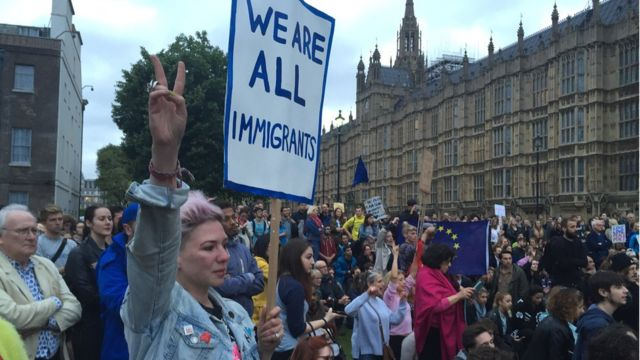"""Митинг против """"брексита"""" в Лондоне"""