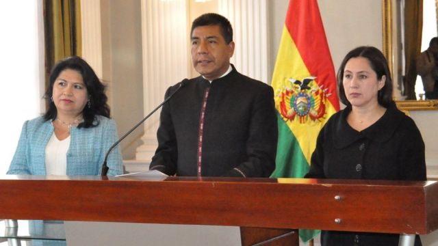 Canciller de Bolivia en conferencia de prensa
