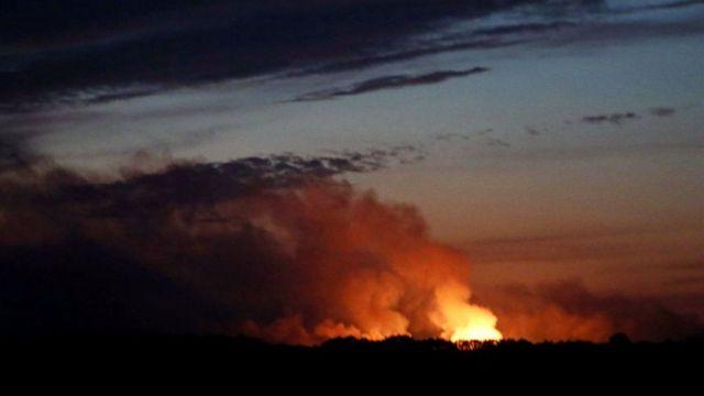 Остання велика пожежа на військовому складі була в жовтні бля міста Ічня
