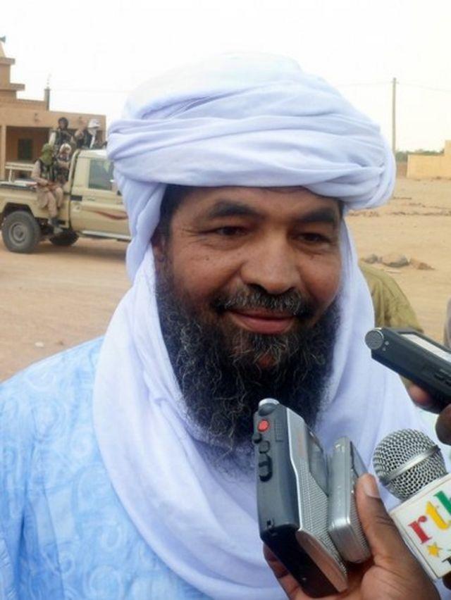 إياد أغ غالي زعيم جماعة أنصار الدين المسلحة في مالي