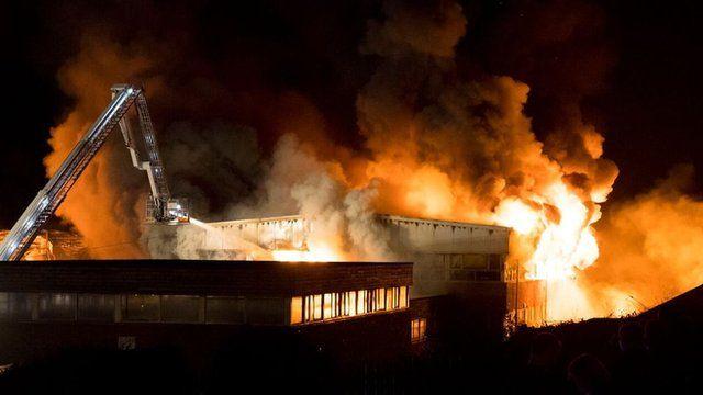 School fire in Ely