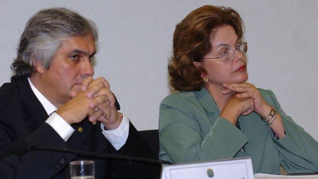 Dilma Rousseff e Delcídio Amaral em 2008