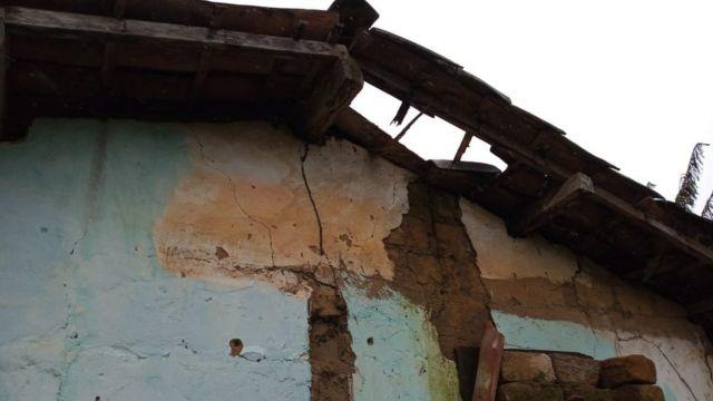 Casa danificada