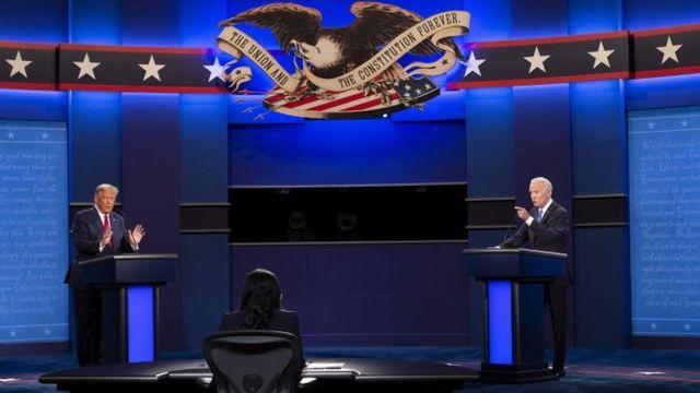 debate Trump y Biden.